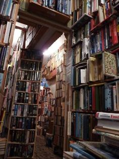 The kind of book stores I adore. I can almost smell the old pages!
