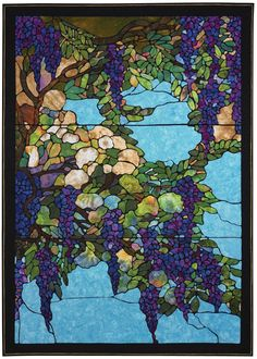 """Wisteria, 59 x 84"""", by Mark Sherman in Quilters Newsletter October/November 2015"""
