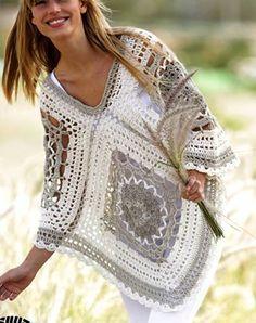 Tina's handicraft : poncho - free pattern ✿⊱╮Teresa Restegui http://www.pinterest.com/teretegui/✿⊱╮
