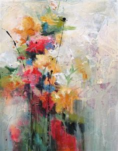 Original art for sale at UGallery.com | Blooming 1 by Karen Hale | $525 | acrylic painting | 18 h x 14 w | http://www.ugallery.com/acrylic-painting-blooming-1