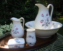 Click This Pin To See A Large Collection Of Antique Haviland Limoges China - Antique Haviland Limoges Chamber Set 7 Pieces Moss Rose Pattern -