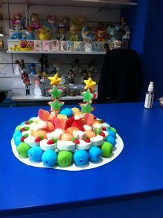Colorida tarta de cumpleaños de Dulce Diseño Sant Cugat. Nos la comemos con la mirada ;)