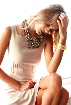 lovely dress and necklace