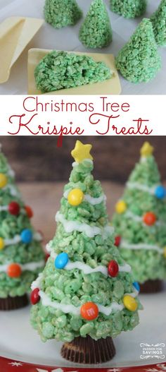 Easy Christmas Tree Treats Recipe Made with Rice Krispies! The Perfect Holiday Dessert Recipe!