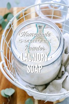 Homemade 5-Minute Powder Laundry Soap