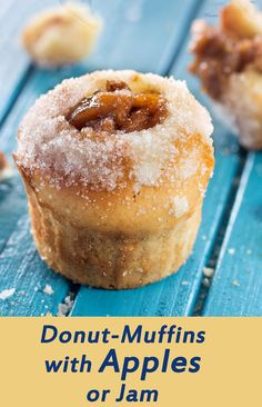 super-delicious Donut-Muffins, filled with caramelized apples or Jam ...