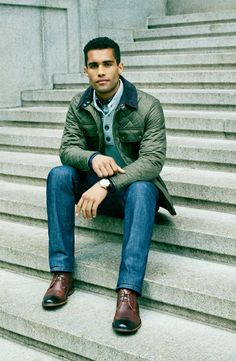 Cold weather essential: The quilted jacket.