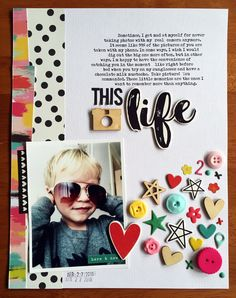 #papercrafting #scrapbooking #layout - This Life by justem at @studio_calico