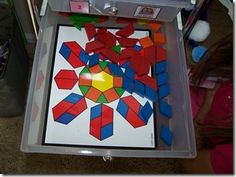 Some great pattern block ideas and other printables at http://www.confessionsofahomeschooler.com/