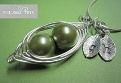 Peas in a pod mother necklace- so cute!
