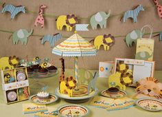 Gorgeous jungle theme baby shower ideas