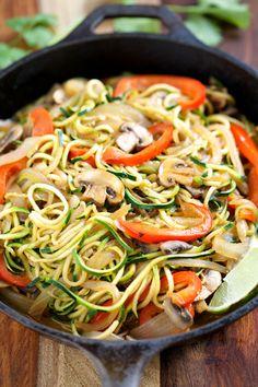 Veggie Fajita Noodles + 12 More Low Carb Spiralizer Ideas