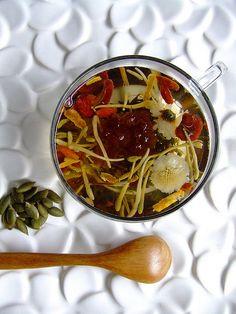 """Eight treasure tea    Chinese tea called """"Ba bao cha"""" or """"Eight treasure tea"""""""