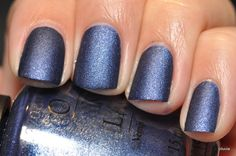 OPI Russian Navy Suede - perfect for NYE!