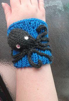 Octopus Cuff made and shared by Judy Dewitt. #knit #knitting #octopus