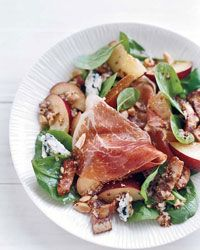 Spinach Salad with Warm Bacon Vinaigrette Recipe on Food & Wine