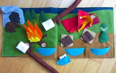 Camping Quiet Book Page -- with pattern -