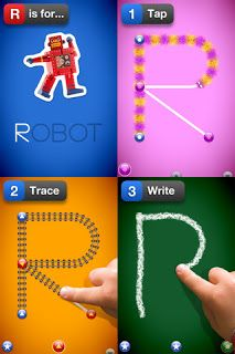 Really good handwriting app for young learners... LetterSchool!