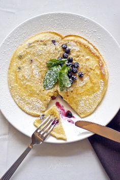 Blueberry Polenta Pancakes