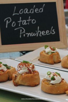 Loaded Potato Pinwheels Appetizer-start with crescent dough then filled with potato, bacon and cheese, an easy tasty appetizer!