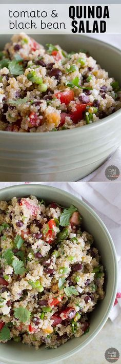 Healthy and satisfying, this Tomato and Black Bean Quinoa Salad is ...