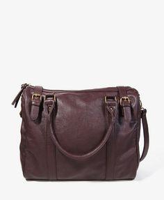 Distressed Leatherette Shoulder Bag | FOREVER21 - 1087532867
