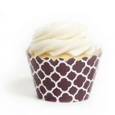 Brown Spanish Tile Cupcake Wrappers