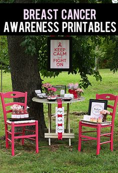 44 page free set of Breast Cancer Awareness Printables.  So you can host the perfect fundraiser.  From @Jan Howard Does She