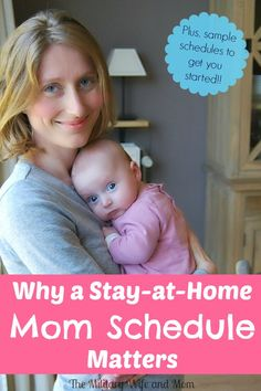LOVE a good stay at home mom schedule! Learn how a schedule can make a difference for you. Plus, sample schedules included!