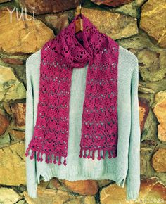 Thank You Scarf By Yuli Nilssen - Free Crochet Pattern - Crochet Diagram Also Included - (yuli)