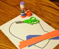 """... to """"The Mitten"""" by Jan Brett and is perfect for early scissor skills"""