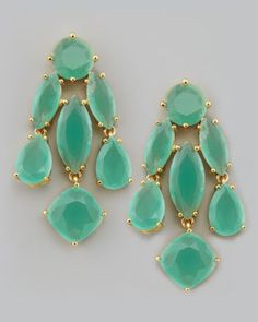 Am I dreaming or are these real?   (kate spade new york crystal statement earrings, mint)