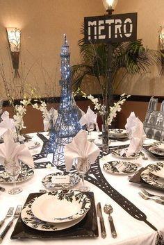 Paris Theme Centerpieces   {Paris Quinceanera Theme}