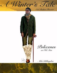 Katherine Nowacki's costume sketch of Polixenes (in disguise!) in A Winter's Tale. Actor: Aldo Billingslea