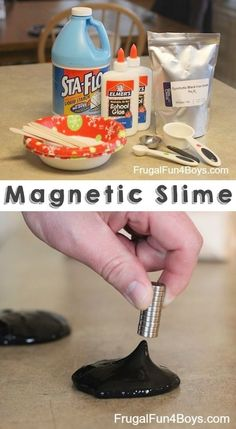 Magnetic Slime... COOL!! 29 clever activities for kids that adults will actually enjoy doing, too!