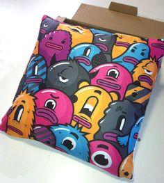 Freak TV pillow  by #Gler  check his blog here : http://gleratomik.blogspot.fr/