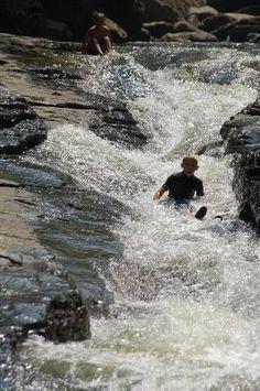 natural waterslides.