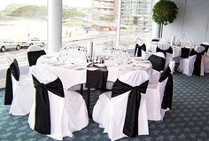 Black and White Wedding Table Decorations
