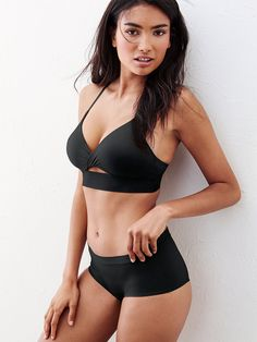 """NOT too good to be true: a push-up bra that's super flirty (hello, peek-a-boo front!) and still comfy. 