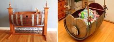 101 DIY Projects How To Make Your Home Better Place For Living (Part 1), Wine Barrels Into Baby Cradles