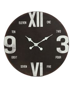 Take a look at this Black 28'' Wall Clock by VIP International on #zulily today!