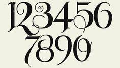 Fancy Number Fonts | Letterhead Fonts / LHF Unlovable / Old English fonts