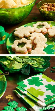 Toast and feast to the Emerald Isle with the proper St. Patrick's Day drink and serveware! Shop Party City's wide selection featuring all shades of green, shamrocks and other St. Patrick's Day memorabilia. Here's a party tip: Mix 'n Match St. Patrick's Day drinkware with solid color tableware to create a grand St. Paddy's Day feast!