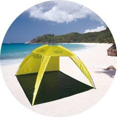 GSI Quality Waterproof Fishing Tent And Mat , Family Beach Shelter, With Fiberglass Frame And Carrying Case - Protects From Sun And UV Rays