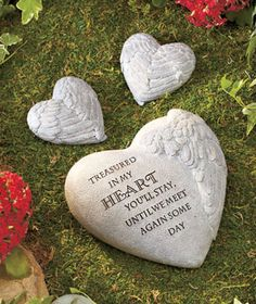 Engraved any message memorial garden stone celebrate the life of a loved one by creating an for Garden memorials for loved ones
