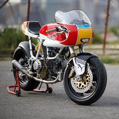 Ducati 900 SS customized for @PUMA