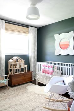 Dark and modern nursery -xoxo #themommychannel