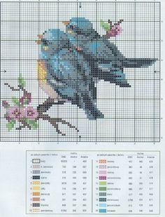 Free graph, website not in English. lovely blue birds. Gallery.ru / Фото #4 - ПТИЧКИ=ТРИ КАРТИНКИ = - irisha-ira