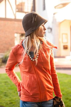 The Lizzy Zip Up in Persimmon – evy's tree