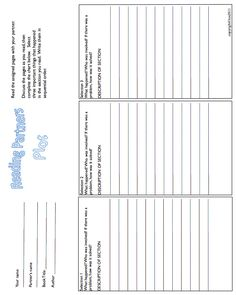 Partner reading sheets are a must have in the classroom! Ready to print so you don't have to design them, these sheets encourage collaboration to create the best answers!
